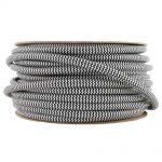 Kábel dvojžilový v podobe textilnej šnúry so vzorom v čiernej farbe, 2 x 0.75mm, 1 meter